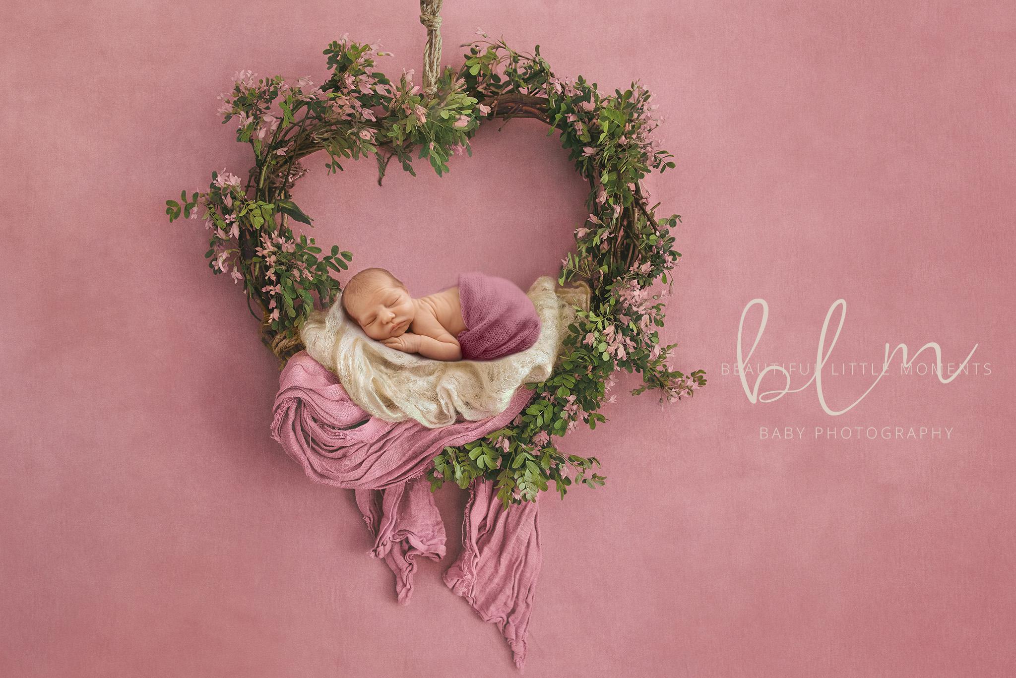 newborn-baby-girl-pink-hanging-basket-epsom-surrey