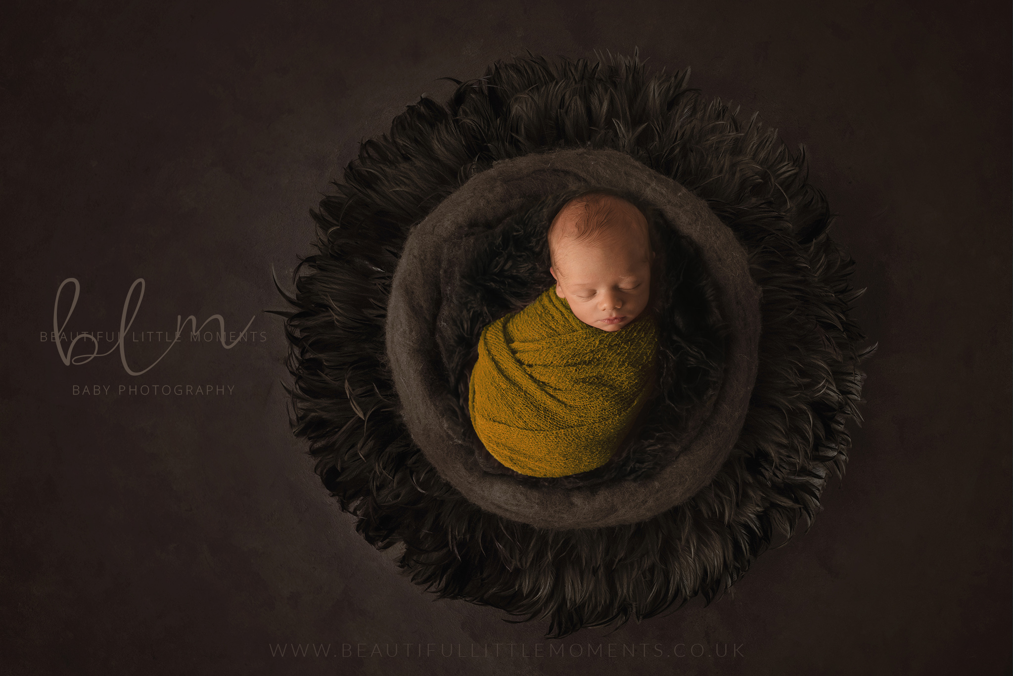 newborn-boy-brown-mustard-yellow-orche-nest