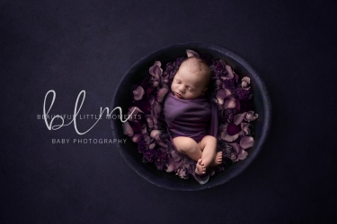newborn-baby-purple-bowl-flowers-epsom-surrey (1)